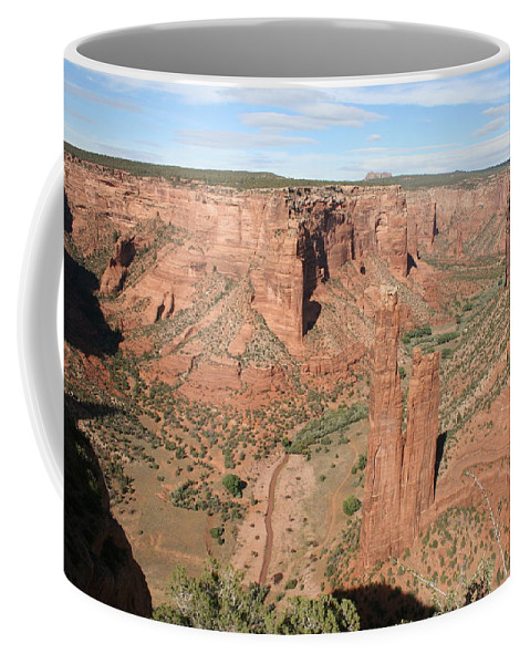Spider Rock Coffee Mug featuring the photograph Spider Rock Canyon De Chelly by Christiane Schulze Art And Photography