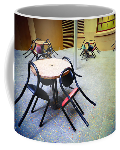 Chairs Coffee Mug featuring the photograph Spiders From Mars by Wayne Sherriff