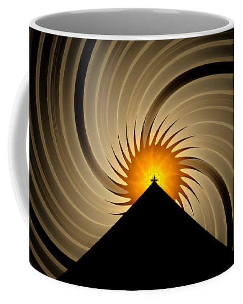 Fractal Coffee Mug featuring the digital art Spin Art by GJ Blackman