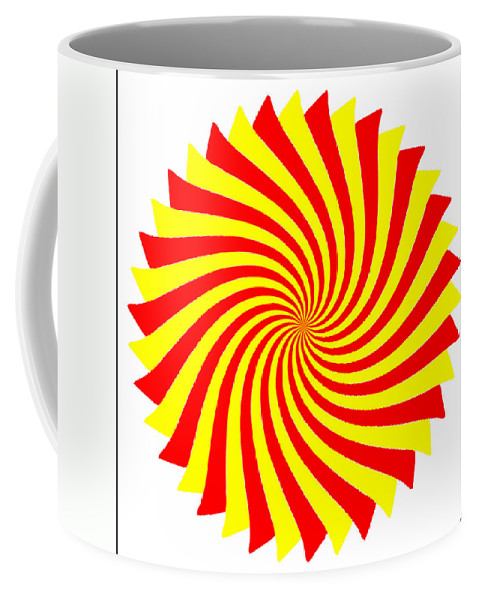 Abstract Coffee Mug featuring the digital art Spin Right On White by Tim Fillingim