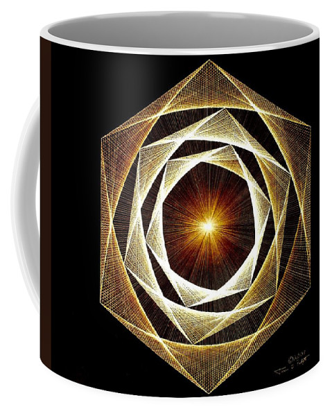 Fractal Coffee Mug featuring the drawing Spiral Scalar by Jason Padgett