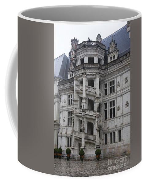 Stairs Coffee Mug featuring the photograph Spiral Staircase Chateau Blois by Christiane Schulze Art And Photography