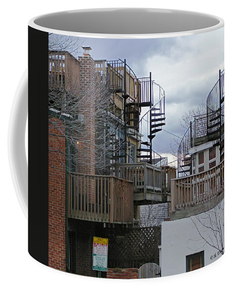 2d Coffee Mug featuring the photograph Spiral Stairs by Brian Wallace