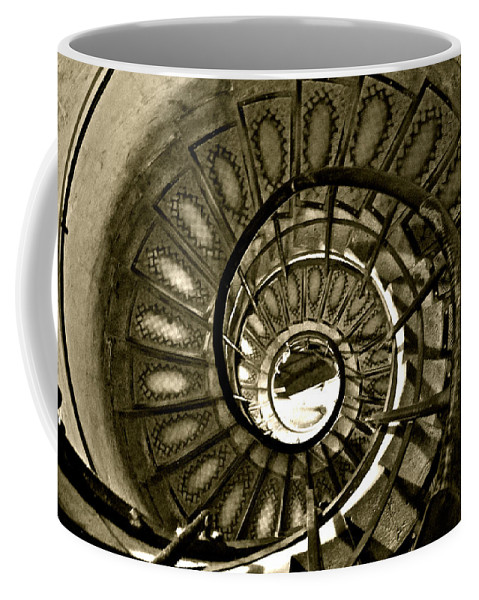 Spiral Coffee Mug featuring the photograph Spirals Down by Lexi Heft