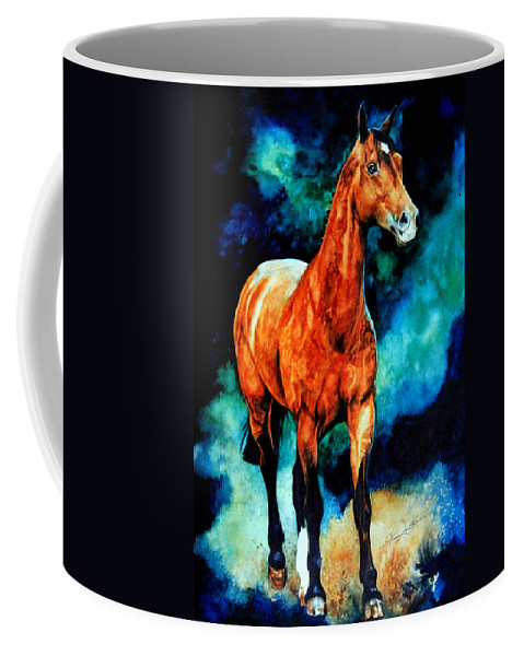 Horse Paintings Coffee Mug featuring the painting Spirit Horse by Hanne Lore Koehler