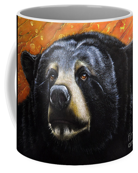 Bear Coffee Mug featuring the painting Spirit Of The Bear by Jurek Zamoyski