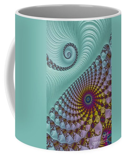 Fractal Coffee Mug featuring the photograph Split Personality by Steve Purnell