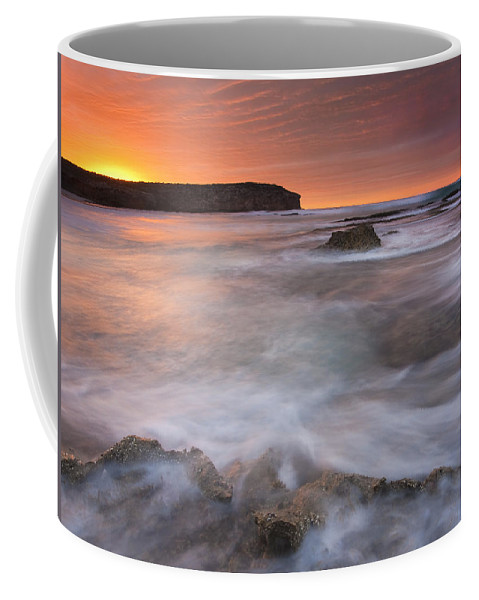 Sunrise Coffee Mug featuring the photograph Splitting The Tides by Mike Dawson