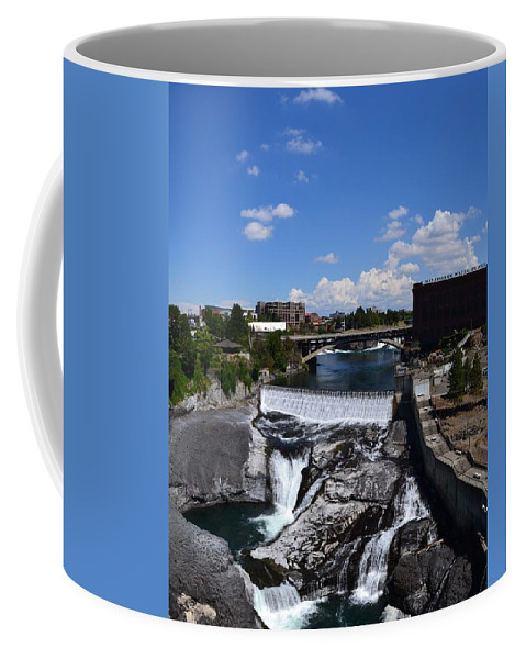 Spokane River Coffee Mug featuring the photograph Spokane Falls And Riverfront by Michelle Calkins