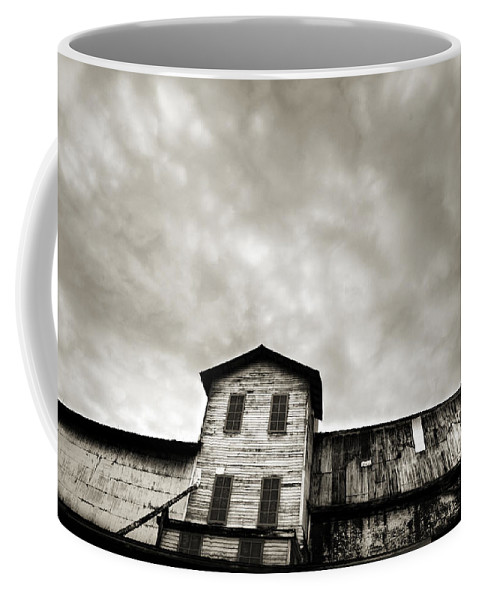 Building Coffee Mug featuring the photograph Spooky Grain Elevator by Marilyn Hunt