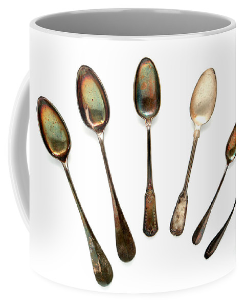 Spoon Coffee Mug featuring the photograph Spoons by Olivier Le Queinec
