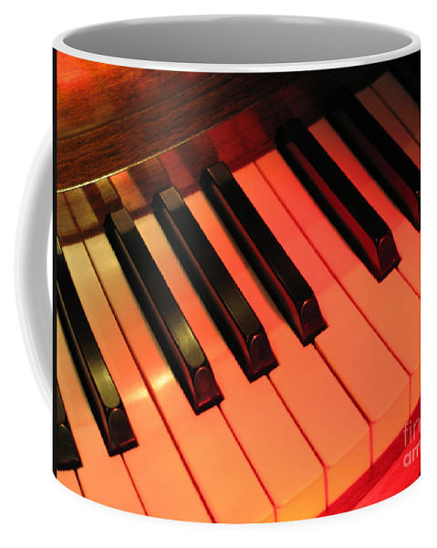 Piano Coffee Mug featuring the photograph Spotlight On Piano by Ann Horn
