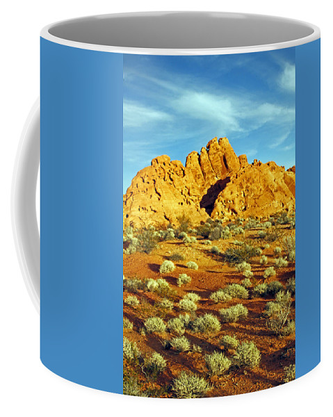Nevada Coffee Mug featuring the photograph Spots Of Grass by Jennifer Robin
