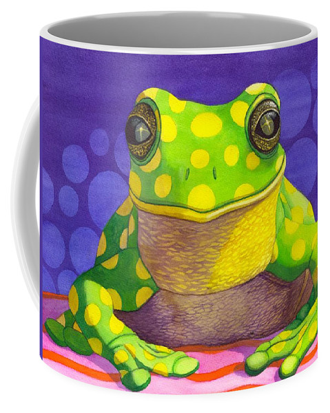 Frog Coffee Mug featuring the painting Spotted Frog by Catherine G McElroy