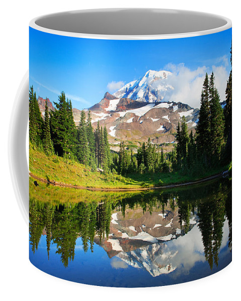 America Coffee Mug featuring the photograph Spray Park Tarn by Inge Johnsson