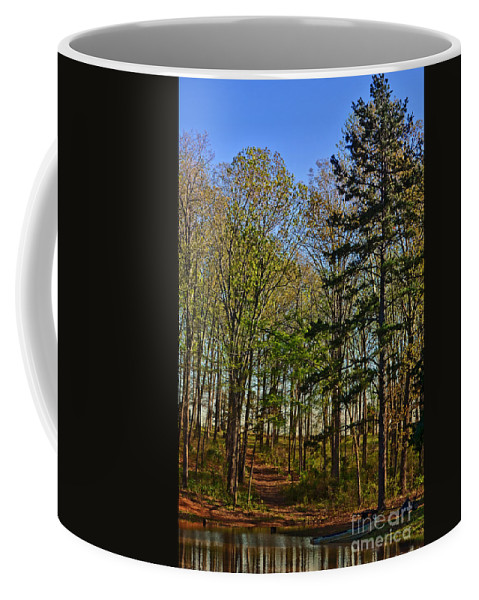 Nature Coffee Mug featuring the photograph Spring At The Pond Series IIi by Debbie Portwood