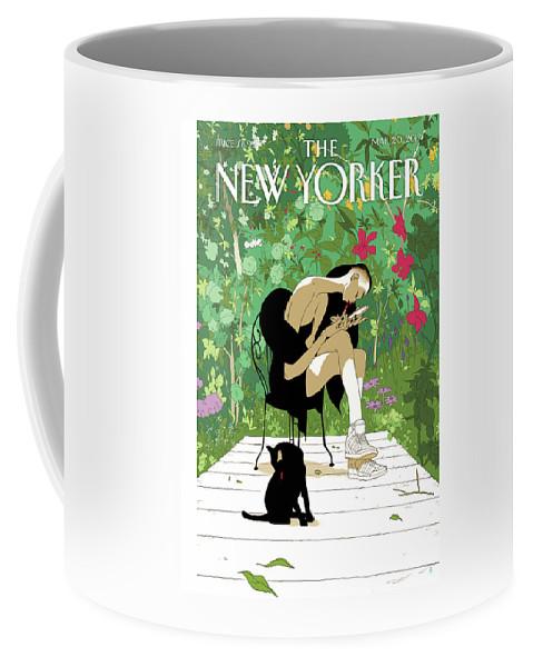 Spring Awakening Coffee Mug featuring the painting Spring Awakening by Tomer Hanuka