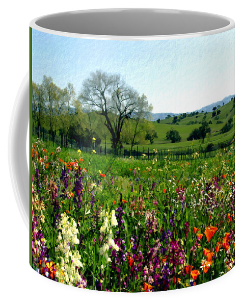 Flowers Coffee Mug featuring the photograph Spring Bouquet At Rusack Vineyards by Kurt Van Wagner
