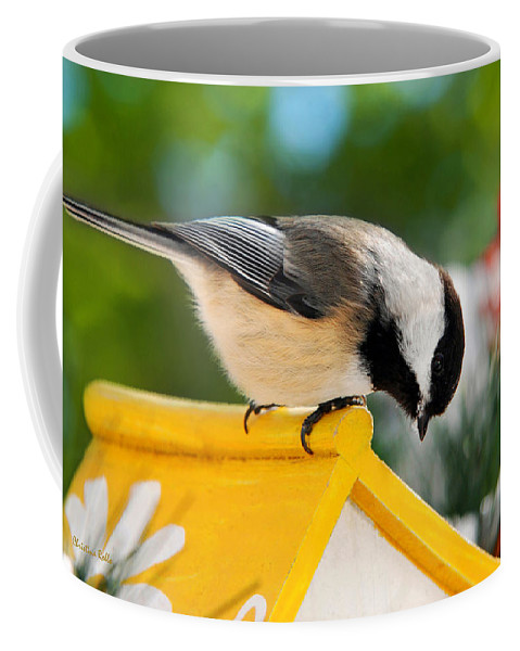 Chickadee Coffee Mug featuring the photograph Spring Chickadee by Christina Rollo