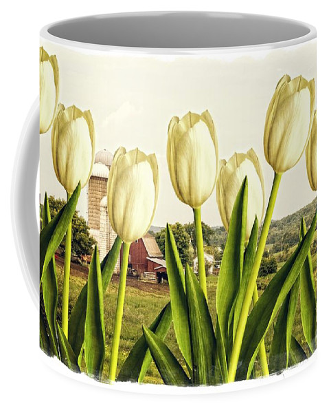 Tulip Coffee Mug featuring the photograph Spring Down On The Farm by Edward Fielding