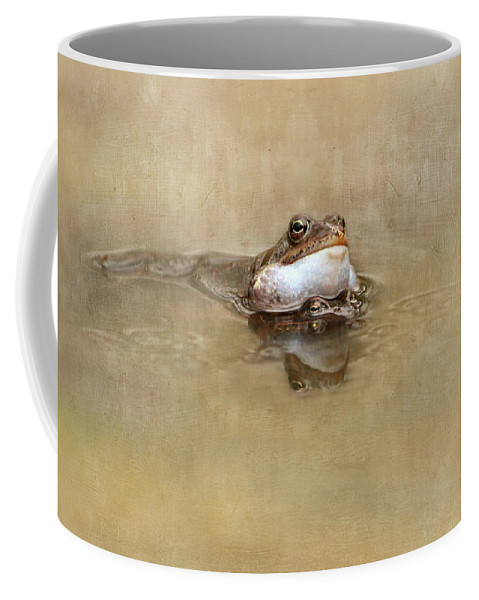 Toad Coffee Mug featuring the mixed media Spring Feelings by Heike Hultsch