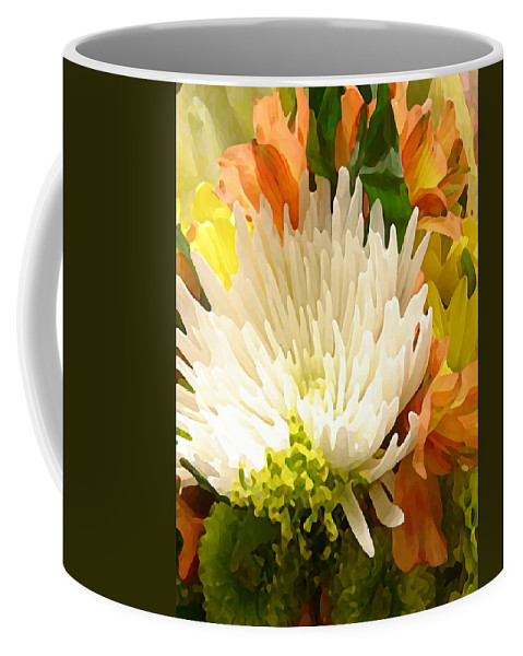Lily Coffee Mug featuring the painting Spring Floral Burst by Amy Vangsgard
