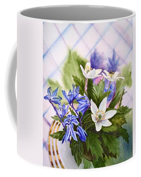 Flowers Coffee Mug featuring the painting Spring Flowers by Irina Sztukowski