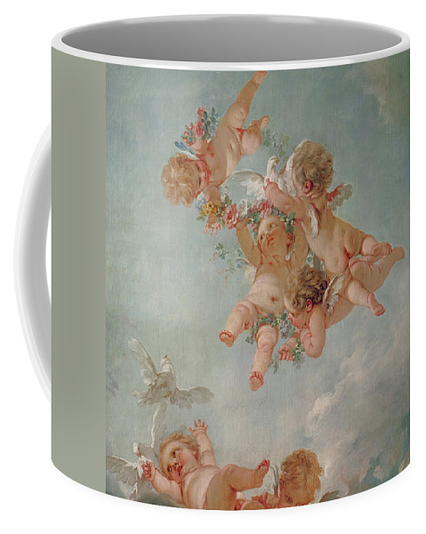 Spring Coffee Mug featuring the painting Spring by Francois Boucher