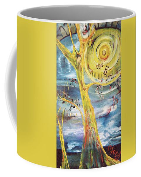 Impressionism Coffee Mug featuring the painting Spring Glory by Peggy Blood