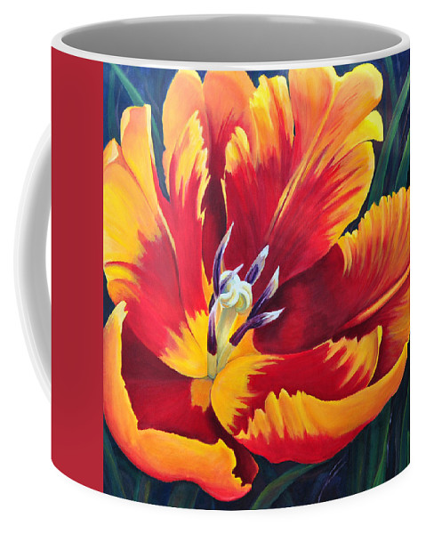 Tulip Coffee Mug featuring the painting Spring by Marjory Wilson
