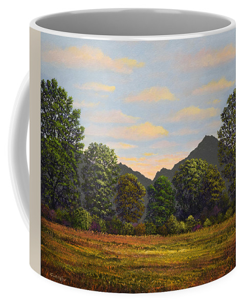 Spring Meadow At Sutter Buttes Coffee Mug featuring the painting Spring Meadow At Sutter Buttes by Frank Wilson