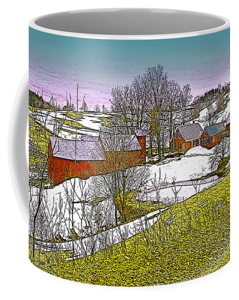 Landscape Coffee Mug featuring the digital art Spring Melt At Jenne Farm by Nancy Griswold