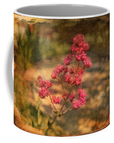 Flower Coffee Mug featuring the painting Spring Mignonette Flower by Angela Stanton