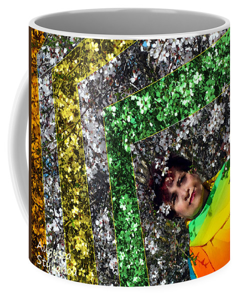 Augusta Stylianou Coffee Mug featuring the photograph Spring Rainbow And Flowers by Augusta Stylianou