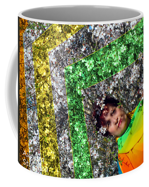 Augusta Stylianou Coffee Mug featuring the photograph Spring Rainbow And Girl by Augusta Stylianou