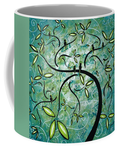 Wall Coffee Mug featuring the painting Spring Shine by MADART by Megan Duncanson