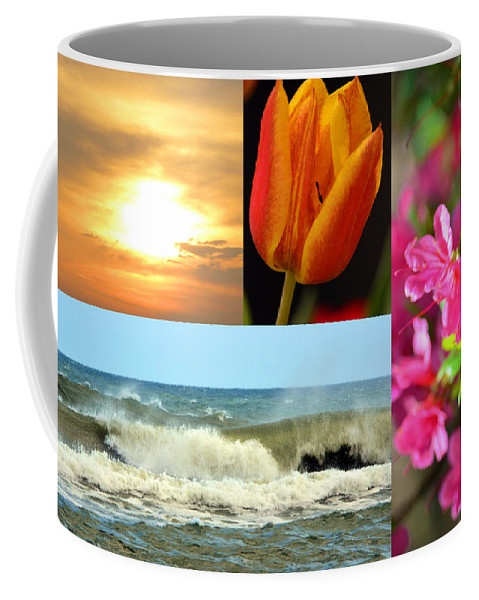 Collage Coffee Mug featuring the photograph Spring Summer Collage by Sandi OReilly