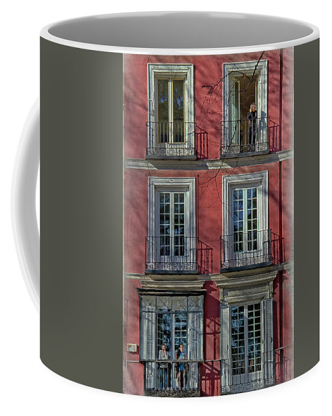 Ancient Coffee Mug featuring the photograph Spring Sunshine In Madrid by Joan Carroll