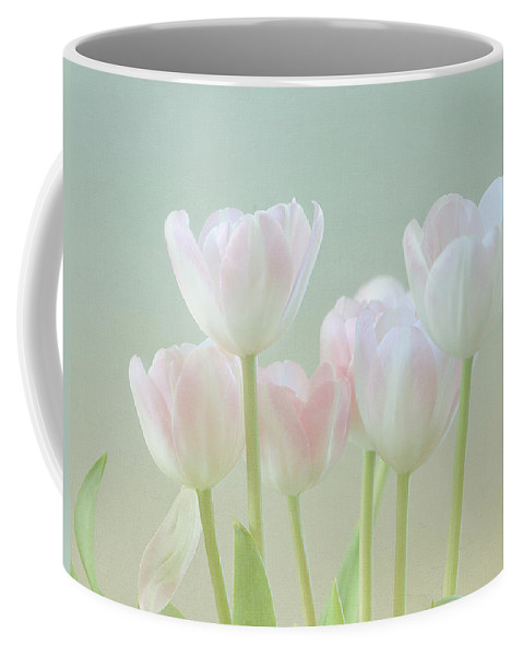 White Flower Coffee Mug featuring the photograph Spring's Pastels by Kim Hojnacki