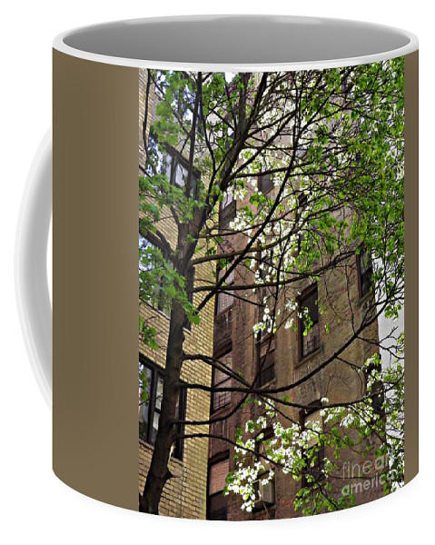 Building Coffee Mug featuring the photograph Springtime In Washington Heights 2 by Sarah Loft