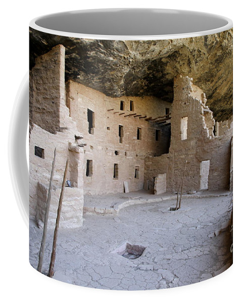 Spruce Tree House Coffee Mug featuring the photograph Spruce Tree House by Christiane Schulze Art And Photography