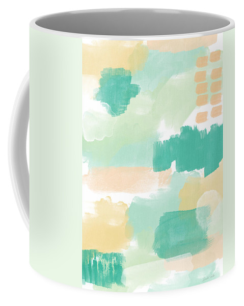 Abstract Painting Coffee Mug featuring the painting Spumoni- Abstract Painting by Linda Woods