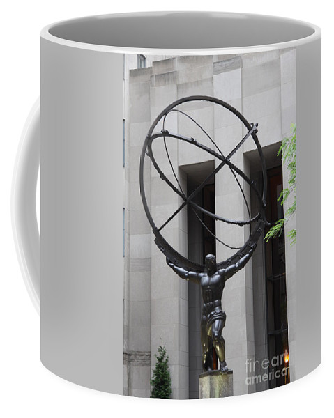 Man Coffee Mug featuring the photograph Square Shoulders - Hercules Statue by Christiane Schulze Art And Photography
