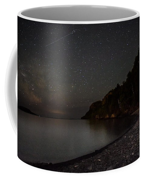 Astrophotography Coffee Mug featuring the photograph Squaw Bay At Midnight by Jakub Sisak