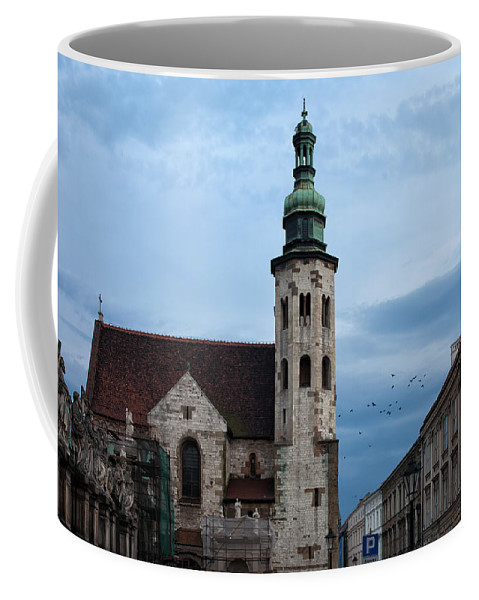 Saint Coffee Mug featuring the photograph St. Andrew's Church In Krakow At Dusk by Artur Bogacki