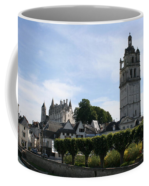 View Coffee Mug featuring the photograph St. Antoine Tower And The Chateau De Loches by Christiane Schulze Art And Photography