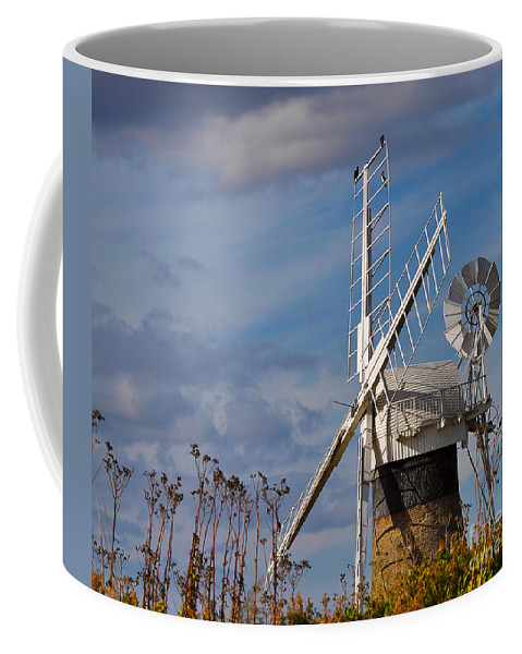 Travel Coffee Mug featuring the photograph St Benets Drainage Mill Norfolk by Louise Heusinkveld
