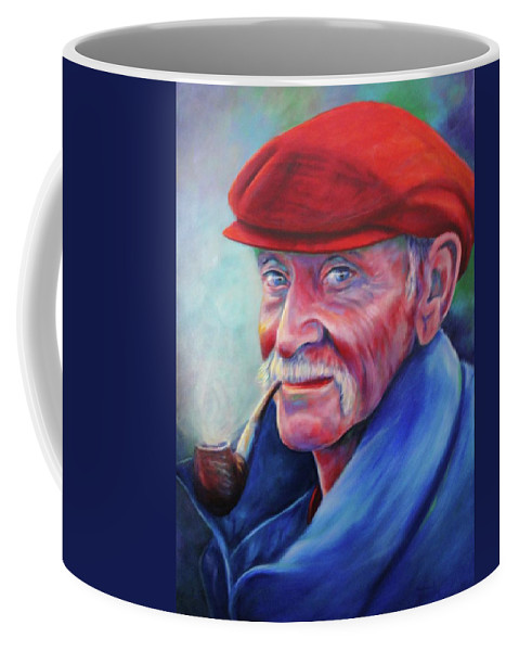 Portrait Coffee Mug featuring the painting St. Francis by Shannon Grissom