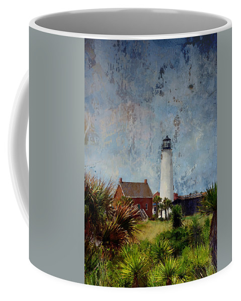 Lighthouse Coffee Mug featuring the photograph St. George Island Historic Lighthouse by Carla Parris