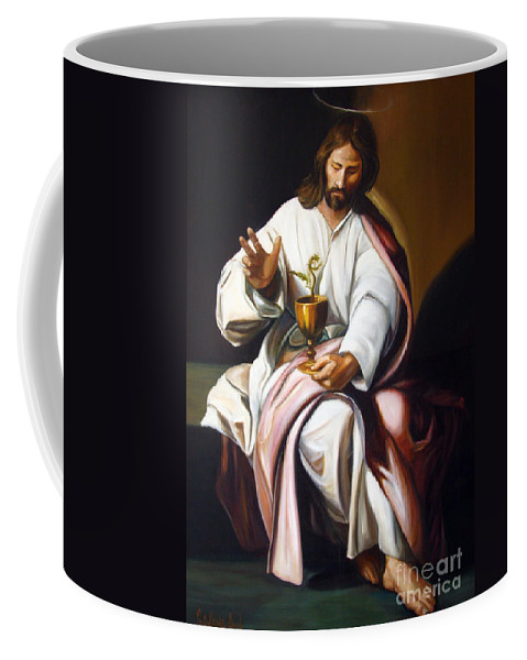 Classic Art Coffee Mug featuring the painting St John The Evangelist by Silvana Abel